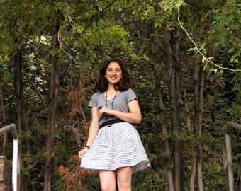 SALE Sheet Music Pleated Skirt