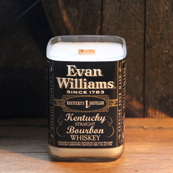 Evan Williams Whiskey Candle Whiskey Present, Valentines Gift For Him, Valentines Guy Gift, Gift For Boyfriend, Valentines Liquor Gift