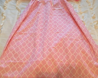 Hospital Maternity Gown - Pink Lattice Labor and Delivery Gown or Custom Fabric Hospital Gowns and Embellishments