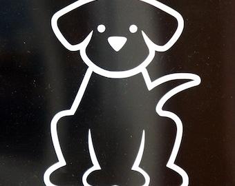 Labrador Retriever Vinyl Decal - outline