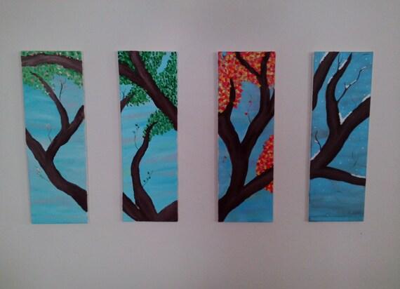 Items similar to four seasons four seasons art wall art for 4 season decoration