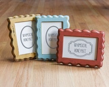 Picture Frame 4x6 Whimsical and Rustic Frame Multiple Color Options Handmade Frame