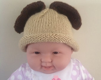 Knitting Pattern Hat With Dog Ears : Dog knit hat Etsy