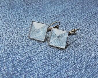 denim earrings, denim jewelry, denim, collection denim, unique denim, blue jewelry, jeans earrings, jeans jewelry, blue jeans, blue denim