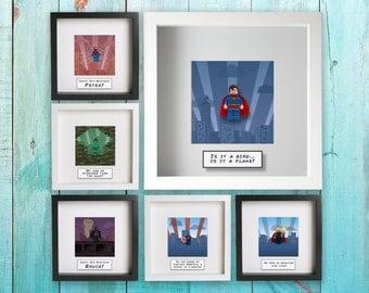 My Superhero - personalised Lego superhero frame