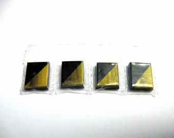 Tiger eye and onyx 10x8 rectangular signets.... 4 pieces per lot