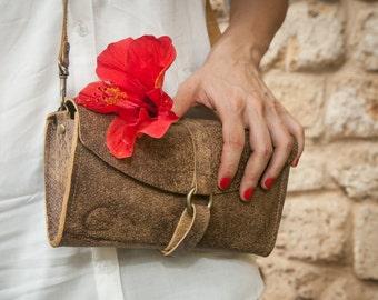 Summer SALE 20% OFF!! Convertible 3 Way Purse - Leather Clutch Bag - leather Shoulder Bag - Yael heffer - Crossbody Leather Women's Bag