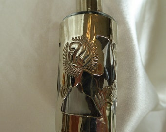 Glass and Sterling Silver Vintage  Perfume  bottle