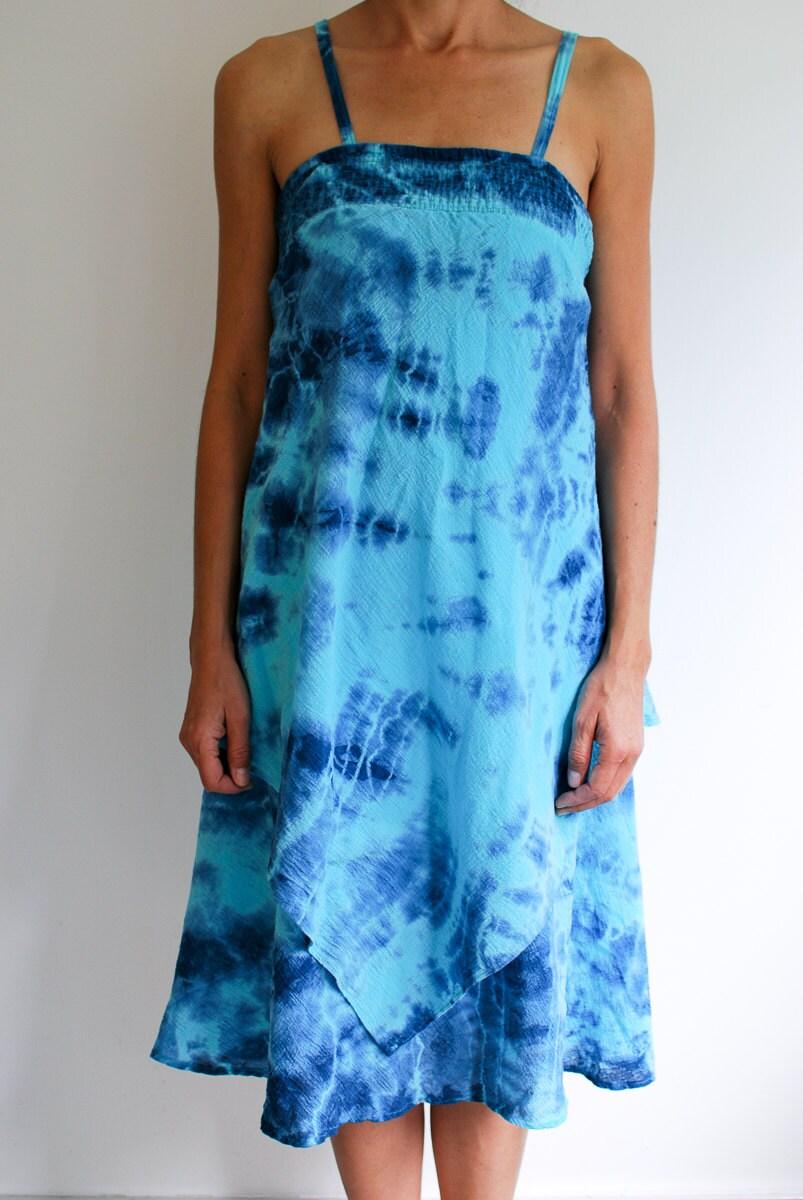 Indigo Tie Dyed Summer Dress