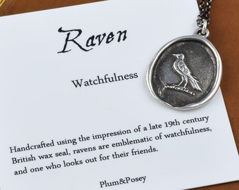 Nevermore Raven Wax Seal Necklace - 105