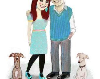 custom individual, couple, family, group portraits