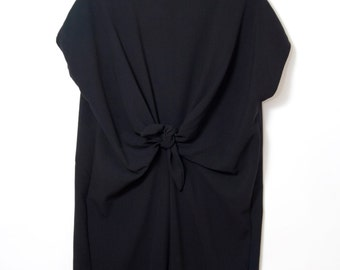 Loose Fit Women Dress. Drapy Oversized Dress. Cap Sleeve. Waist Knot. Alice dress AW15