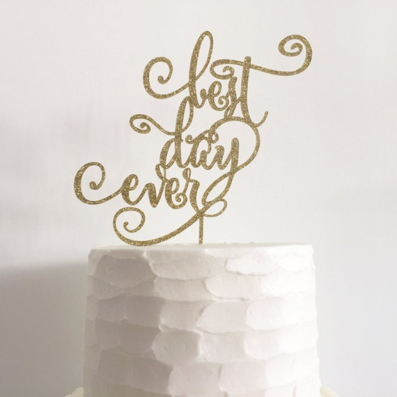 best wedding cake toppers ever best day gold wedding cake topper wedding bridal etsy 11703