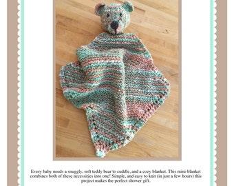 Snuggle Bear Mini-Blanket Pattern PDF