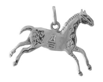 Painted Pony Horse Pendant Charm -- Complimentary Ribbon or Cord