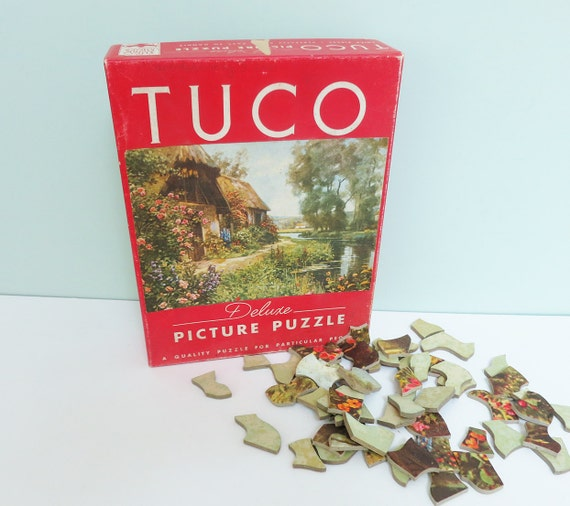 tuco deluxe vintage picture puzzle thatched roof english