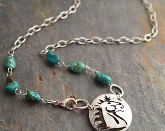 Wild Horse Necklace, Turquoise