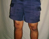 Vintage Sportif Navy Blue Walking Shorts 34