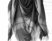 Black  Blanket Scarf by Ebruk , Women Scarf , Plaid Shawl , Plaid Blanket Scarf   Gift for Her  Women  fashion Winter Accessories