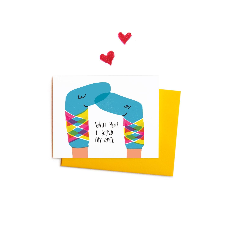 Rainbow Argyle Sock Puppets Valentines Cards Boxed Card of – Boxed Valentines Cards