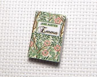 Needle Minder Miniature Book Emma Jane Austen Romance Love Story 1 Inch