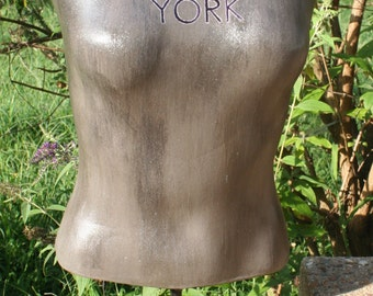 New York Vintage Glamour Dress Form Mannequin Artful Décor Table Top Painted **Ready to Ship**