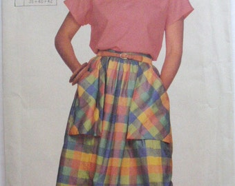 Super Saver Sewing Pattern - Easy To Sew Pullover Top and Gathered Skirt - Simplicity 7394 - Sizes 10-12, Bust 32 1/2 - 34
