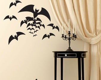 Halloween wall decals flying bat wall stickers - party decorations - Halloween decor