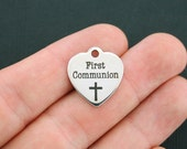 First Communion Charm Polished Stainless Steel - Exclusive Line - Quantity Options  - BFS123