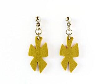 Minimal earrings, wooden earrings, earrings handmade, geometric earrings, modern earrings, ecofriendly earrings, artisan earrings, jewelry
