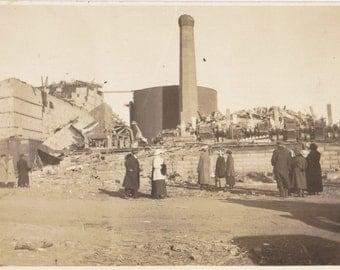 1906 San Francisco Earthquake- 1900s Antique Photograph- California History- Natural Disaster- Real Photo Postcard- RPPC- Paper Ephemera