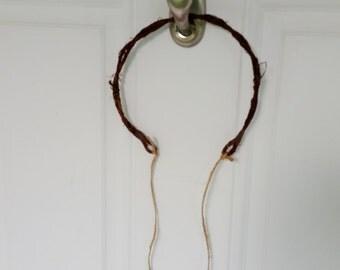 Girls Birthday party favors make your own flower crowns headband just add florals set of 5 bark wire wreaths Wedding accessories