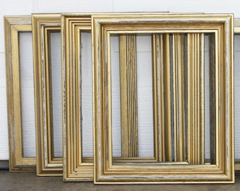 8x10 Frame Metallic Gold Picture Frame Vintage Hand Painted & Distressed