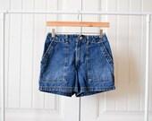 SALE Vintage denim jean high waisted shorts 28 inch waist size 3