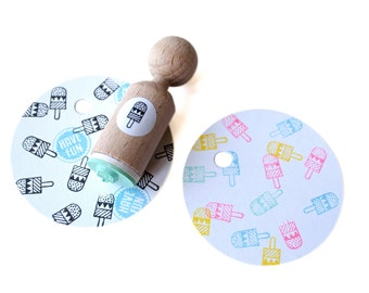 popsicle Mini Stamp - lolly mini stamp, ice lolly mini stamp, lollipop mini stamp, popsicle mini stamp