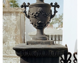 Urn Photo Cemetery Print New Orleans Ironwork Therdbcollection Renee Dent Blankenship