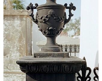 Urn Photo Cemetery Print New Orleans Ironwork Therdbcollection Renee Dent Blankenship