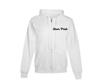 Custom Embroidery EcoSmart Full Zip Hooded Sweatshirt Hoodie