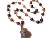 GROUNDING BUDDHA necklace buddha amulet protection amulet agate necklace