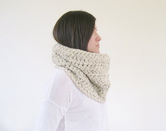 Infinity Cowl Chunky Knit | Knit Infinity Scarf | Handmade Scarves | Gift Ideas for Her