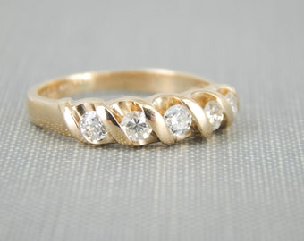 Mid-Century Five Diamond Band RL67K2-P