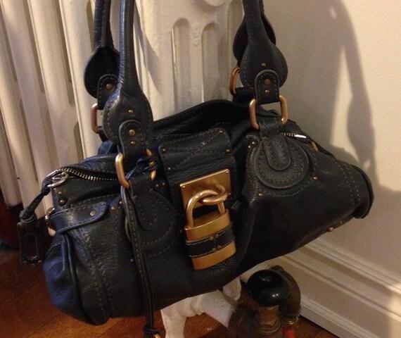 AUTHENTIC Chloe Paddington bag / grey leather / by rachelvalentina