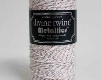 Metallic Rose Gold 240 YARDS SPOOL of Divine Twine Bakers Twine