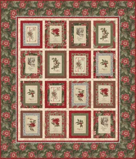 Quilt Patterns With 3 Fabrics : Pattern: Sentiments Quilt by 3 Sisters for Moda Fabrics