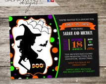Halloween Baby Shower Invitation • Costume Party Baby Shower Invitation • Little Pumpkin Baby Shower Invitation • 5x7 • DIY • Digital File