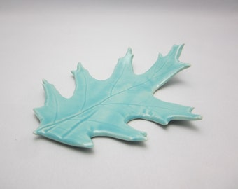 Ring Dish - Leaf Ceramic Jewelry Holder - Lovely Wedding Gift Ring Idea - Unique Clay Earring / Necklace / Bracelet Holder - Gift Packaged