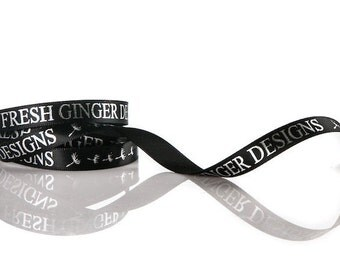 Custom Ribbon in 65 Beautiful Colors   Double Face Satin Ribbon   Personalized & Custom Printed 28 Vibrant Ink Colors   100 Yard Ribbon