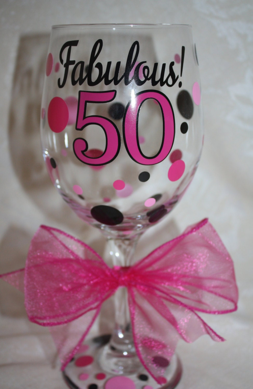 Fabulous 50 Wine Glass 20 Ounce Wine Glass For The 50 Year