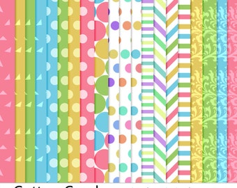 Commercial Use Instant Download Cotton Candy Pastel Digital Papers