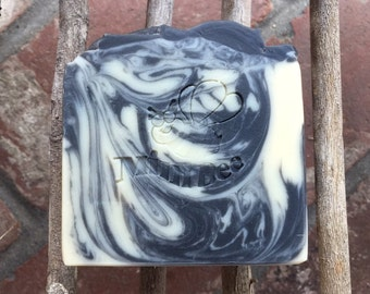 BLACK LICORICE Shea Butter Soap with Silk, Handmade Soap, Cold Process Soap, Moisturizing
